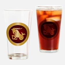 Capricorn Gold Drinking Glass
