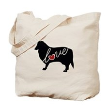 Collie Love Tote Bag