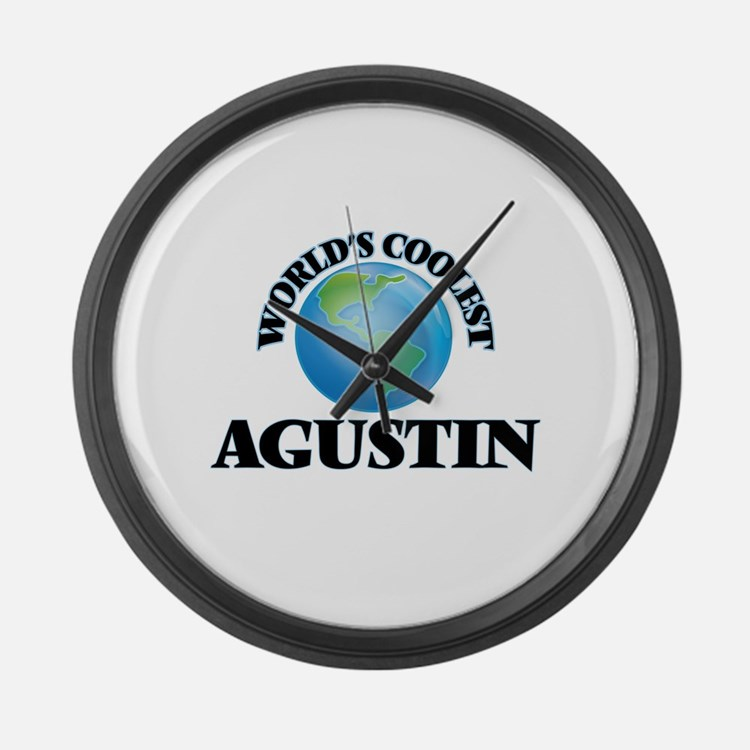 World's Coolest Agustin Large Wall Clock