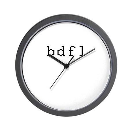 bdfl - Benevolent dictator for life Wall Clock