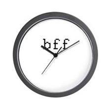 bff - best friends forever Wall Clock