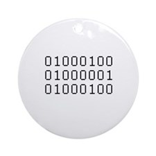 Binary Ornament (Round)