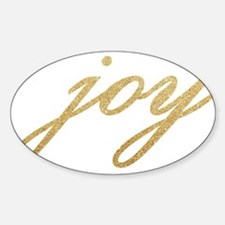 Joy Gold Sparkle Design Decal