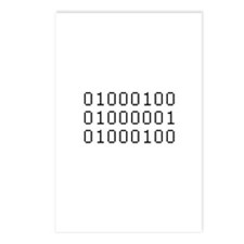 Binary Postcards (Package of 8)