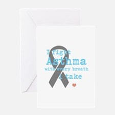 I Fight Asthma Greeting Cards