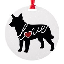 Cattle Dog Love Ornament