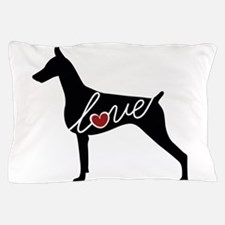 Doberman Love Pillow Case