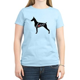 Doberman Love Women's Light T-Shirt