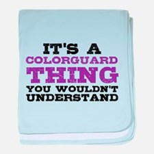 Colorguard Thing baby blanket
