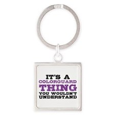 Colorguard Thing Square Keychain