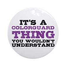 Colorguard Thing Ornament (Round)