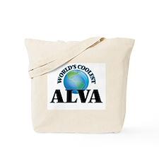 World's Coolest Alva Tote Bag
