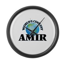 World's Coolest Amir Large Wall Clock
