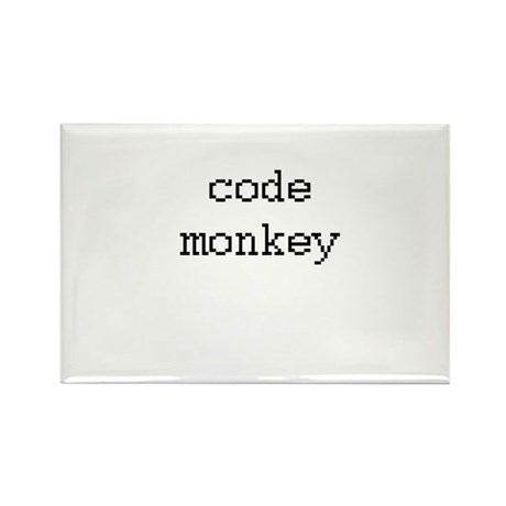code monkey Rectangle Magnet (100 pack)