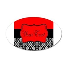 Personalizable Red Black Wall Decal