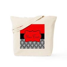 Personalizable Red Black Tote Bag