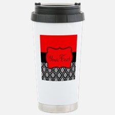 Personalizable Red Black Travel Mug