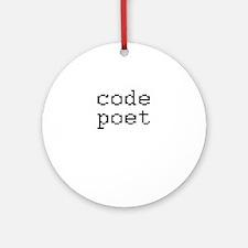code poet Ornament (Round)