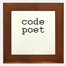 code poet Framed Tile