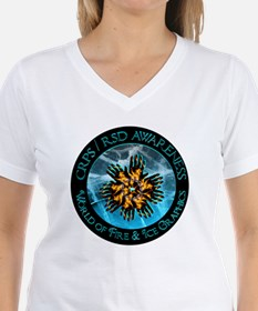 CRPS RSD Awareness World of Fire Ice Blazi T-Shirt