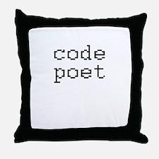 code poet Throw Pillow