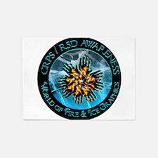 CRPS RSD Awareness World of Fire Ic 5'x7'Area Rug