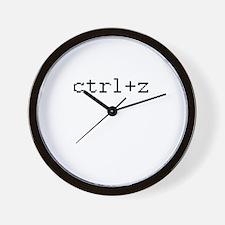 ctrl+z - Control Z - redo Wall Clock