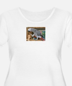 african grey parrot Plus Size T-Shirt