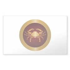 Cancer Gold Decal