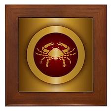 Cancer Gold Framed Tile
