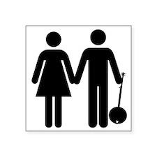Man+Woman+Banjo Sticker