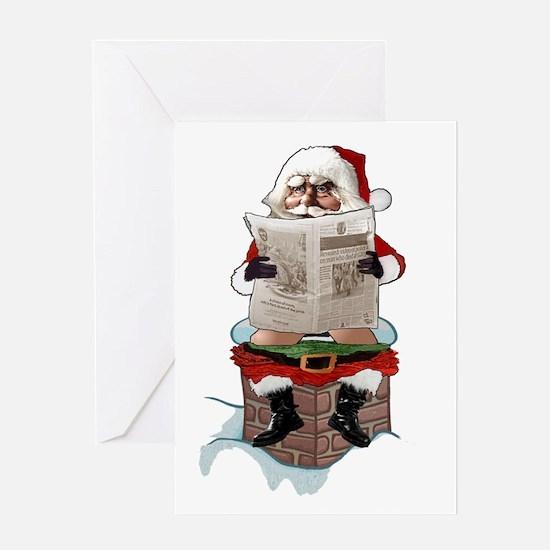 "Santa Claus ""Party Pooper"" Christmas Greeting Card"