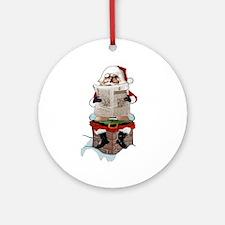 "Santa Claus ""Party Pooper"" Christ Ornament (Round)"