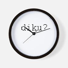 diku? - Do i know you? Wall Clock