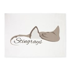 Sea Stingrays 5'x7'Area Rug