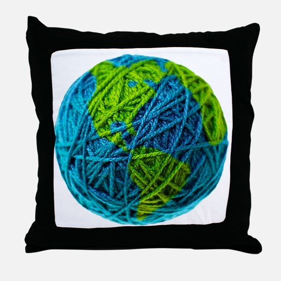 Unique Yarn Throw Pillow