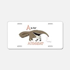 A is for Anteater Aluminum License Plate