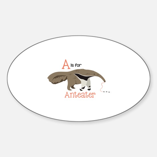 A is for Anteater Decal