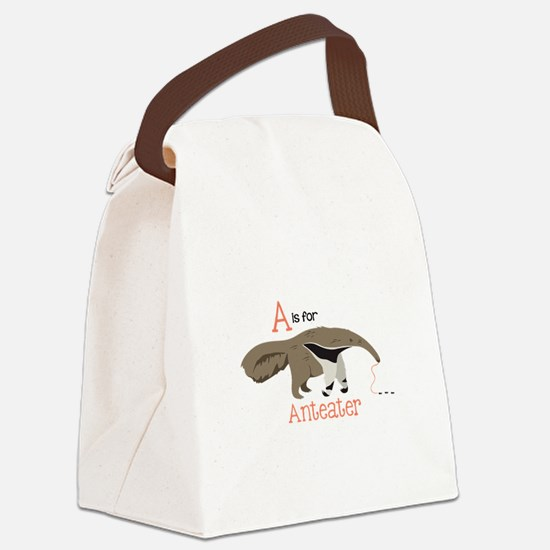A is for Anteater Canvas Lunch Bag