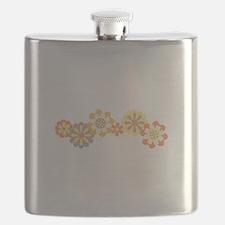 Floral Border Flask