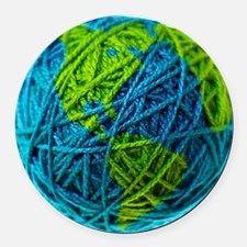 Unique Yarn Round Car Magnet