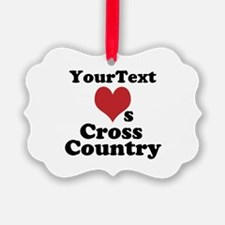 Customize Loves Cross Country Ornament
