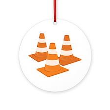 Traffic Cones Ornament (Round)