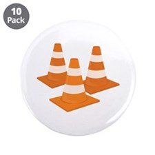 """Traffic Cones 3.5"""" Button (10 pack)"""