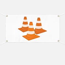 Traffic Cones Banner