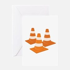 Traffic Cones Greeting Cards