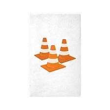 Traffic Cones Area Rug
