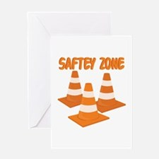 Safety Zone Greeting Cards