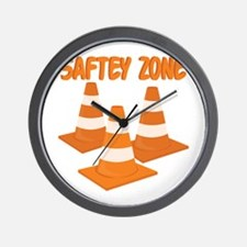 Safety Zone Wall Clock