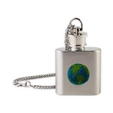 Cute Knitting Flask Necklace
